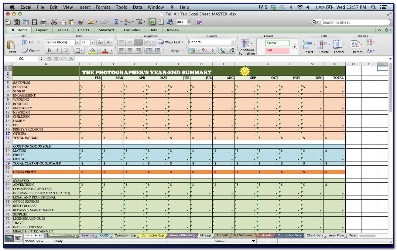 Resource Tracking Spreadsheet Templates