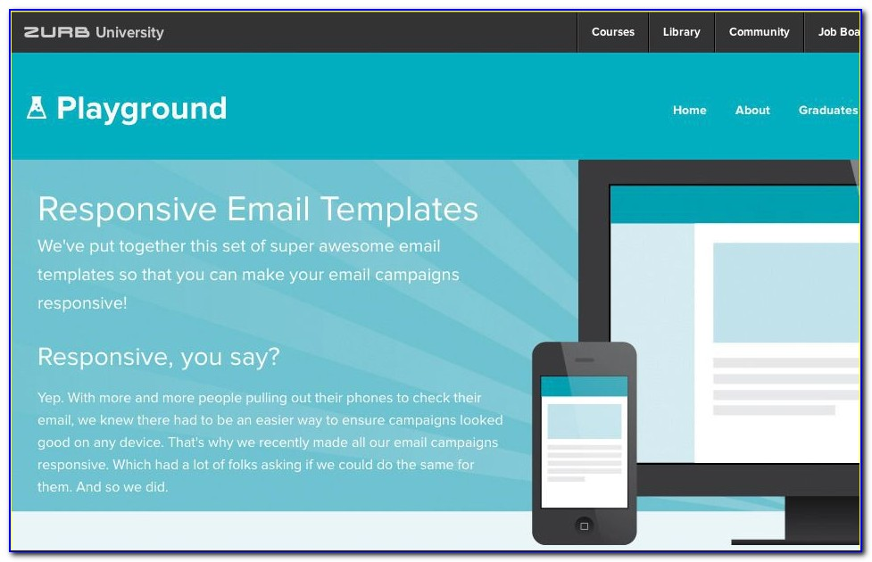 Responsive Design Email Template Html
