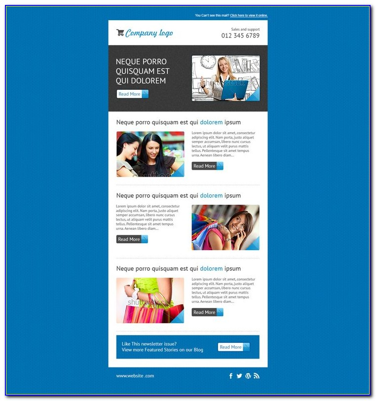 Responsive Email Templates For Mailchimp