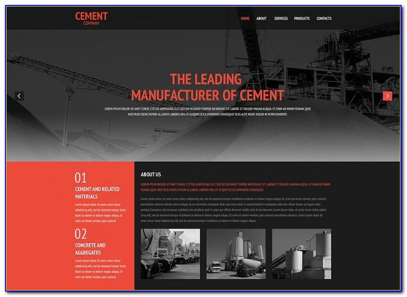 Responsive Manufacturing Website Templates Free Download