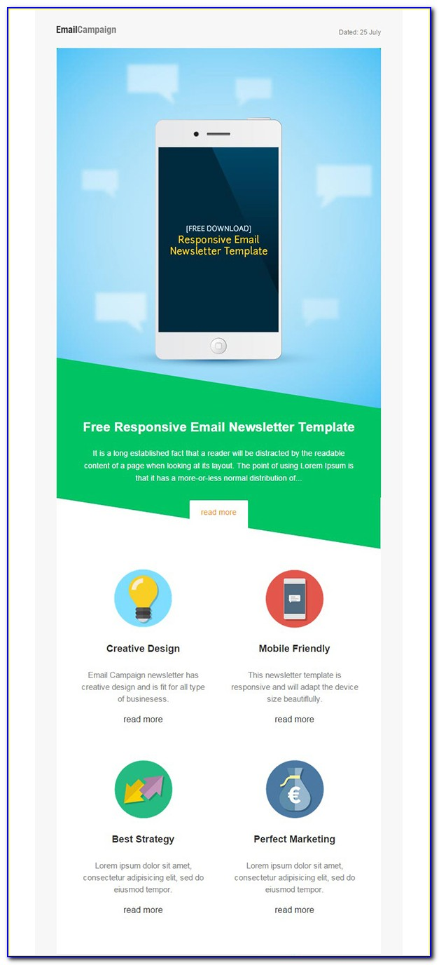 Responsive Newsletter Template Free Download