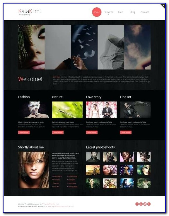 Responsive Photography Website Templates Free Download