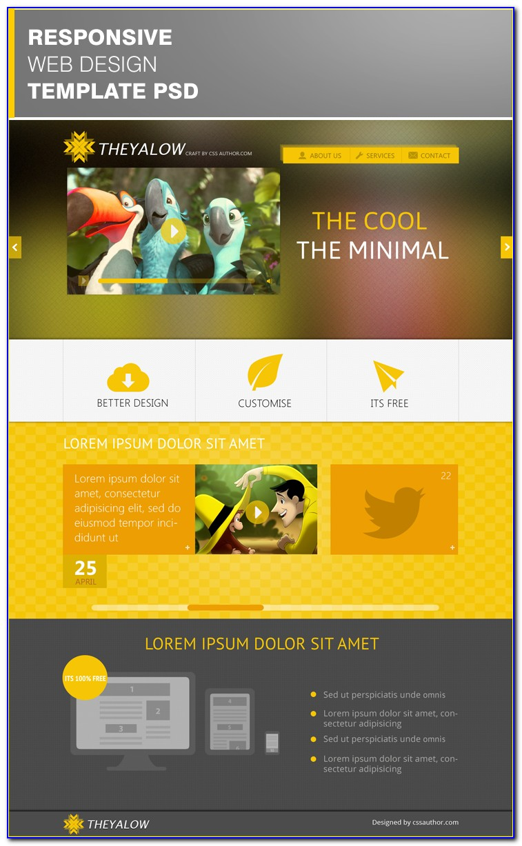 Responsive Web Design Html Template Free Download