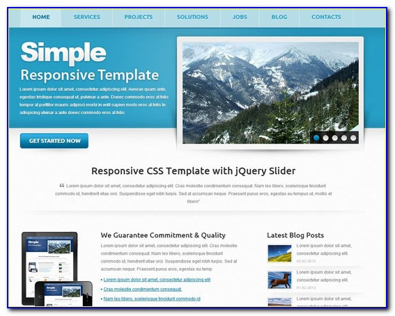 Responsive Website Templates Free Download Bootstrap