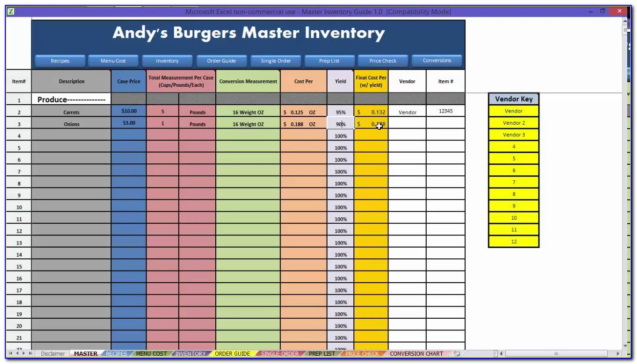 Restaurant Spreadsheet Templates Free With Regard To Restaurant Excel Spreadsheets Aljererlotgd