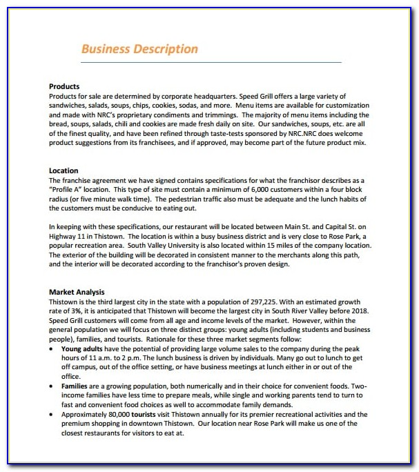Restaurant Business Plan Templates