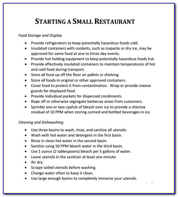 Restaurant Business Proposal Example