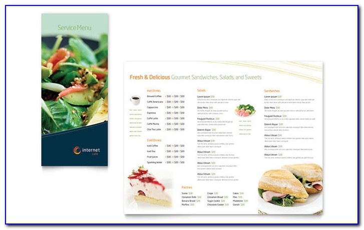 Restaurant Menu Indesign Template Free Download