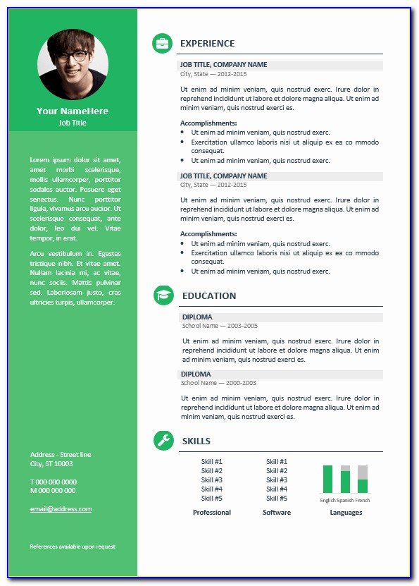 Resume Editable Templates Free Download