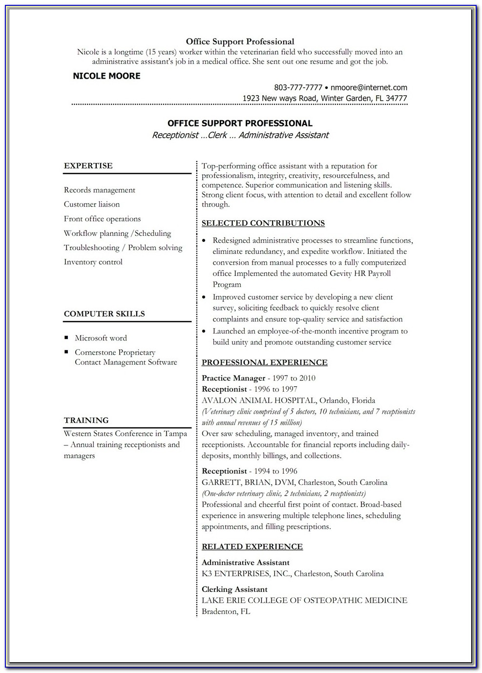 Resume On Microsoft Word 2007
