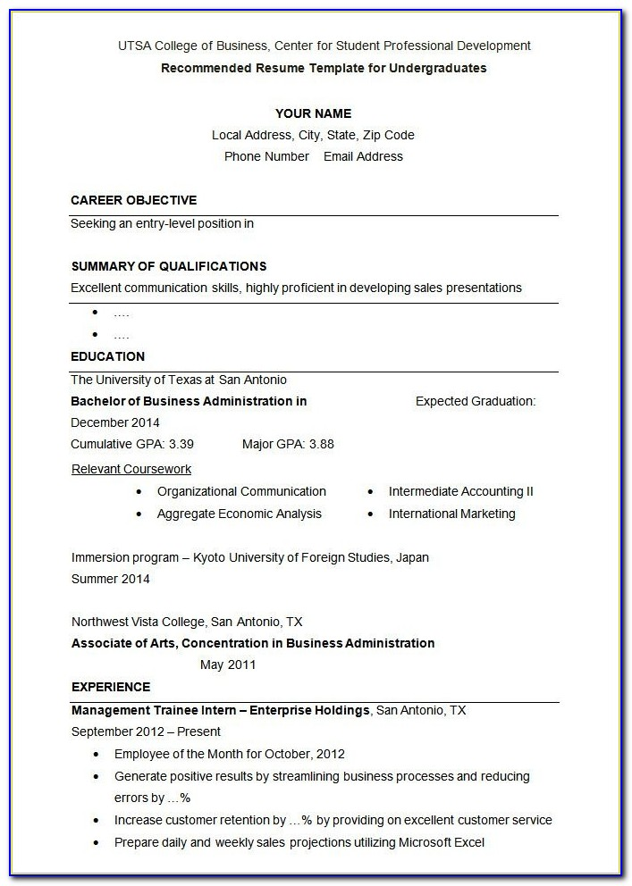 Student Resume Template – 21+ Free Samples, Examples, Format Intended For Resume Samples For University Students