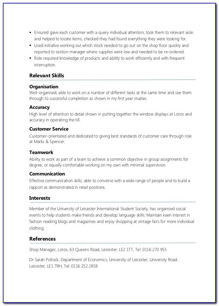 Resume Samples For Part Time Jobs In Canada