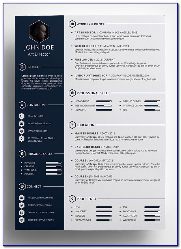 Resume Template Creative Free Word