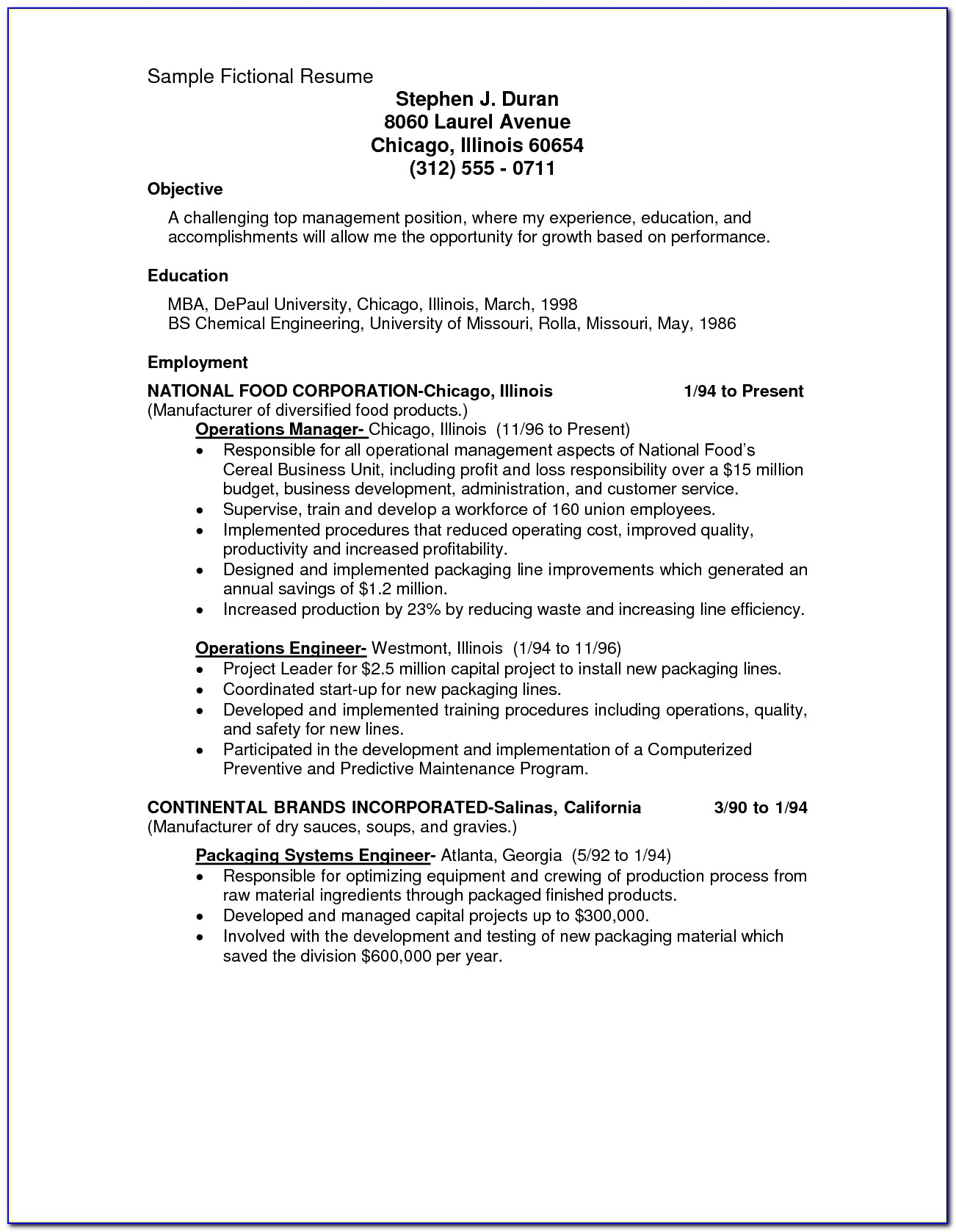 Resume Template For Journeyman Electrician