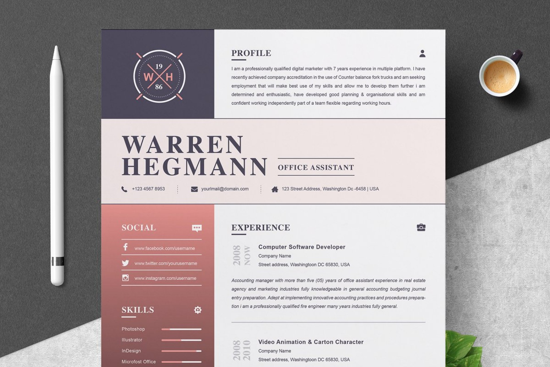Resume Templates For Pages Free Download
