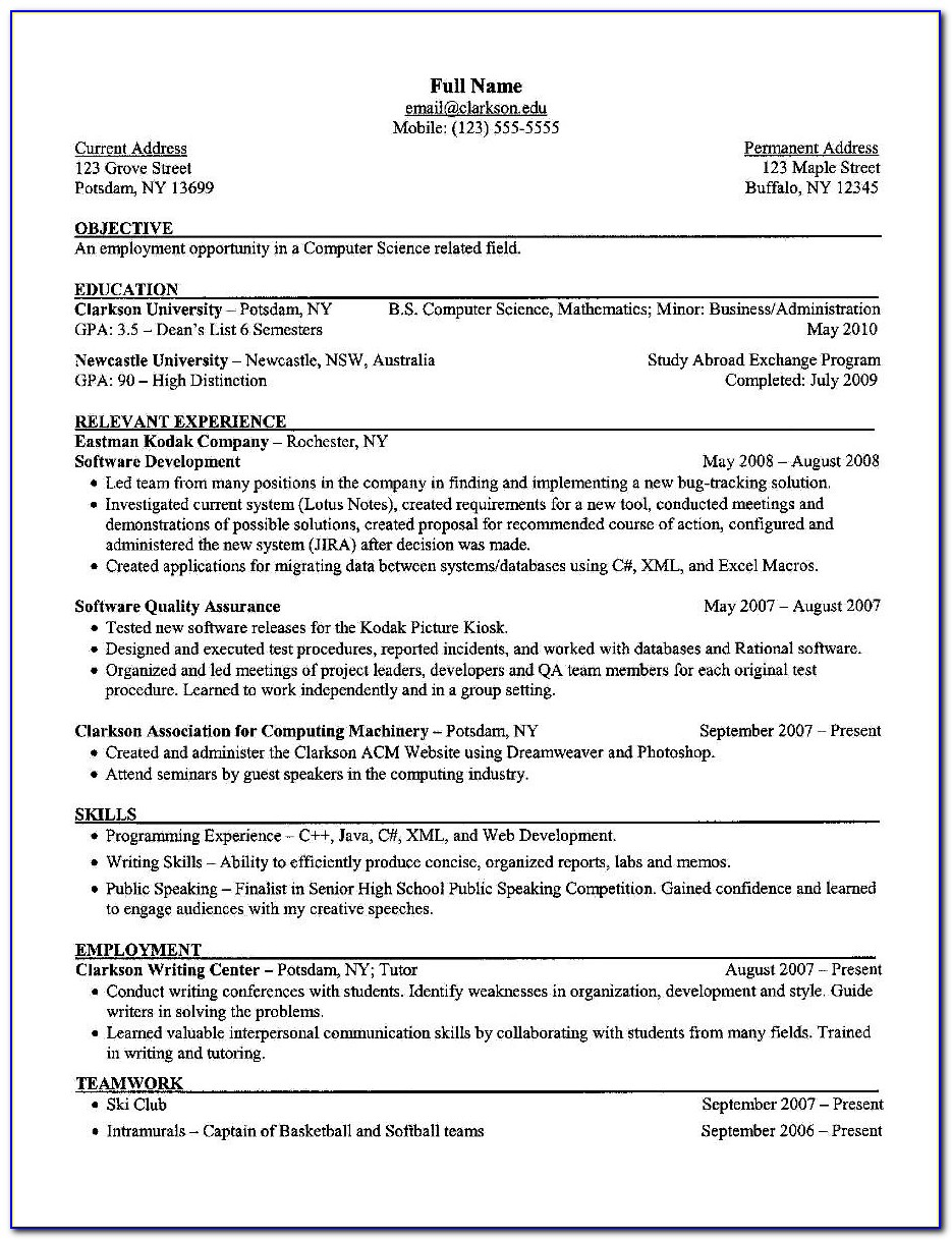 Resume Writing Executive