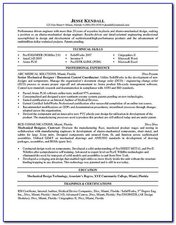 Resume Writing For Professional Engineers