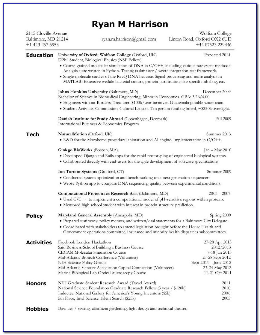 Cv Writing Courses London How To Make A Professional Looking Resume