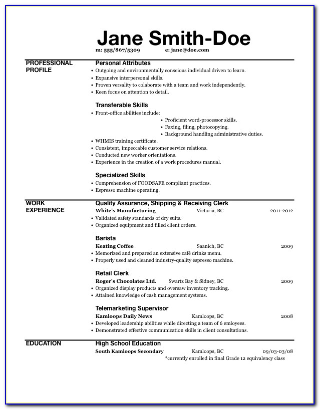 Resume Made Easy. Grid Based Excel Resume. How To Make A Good With In Resume Made Easy