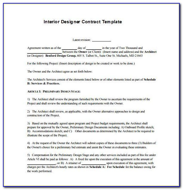 Retainer Contract Template Free