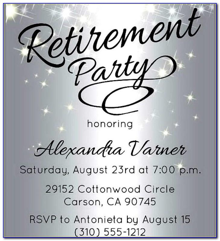 Retirement Party Flyer Samples