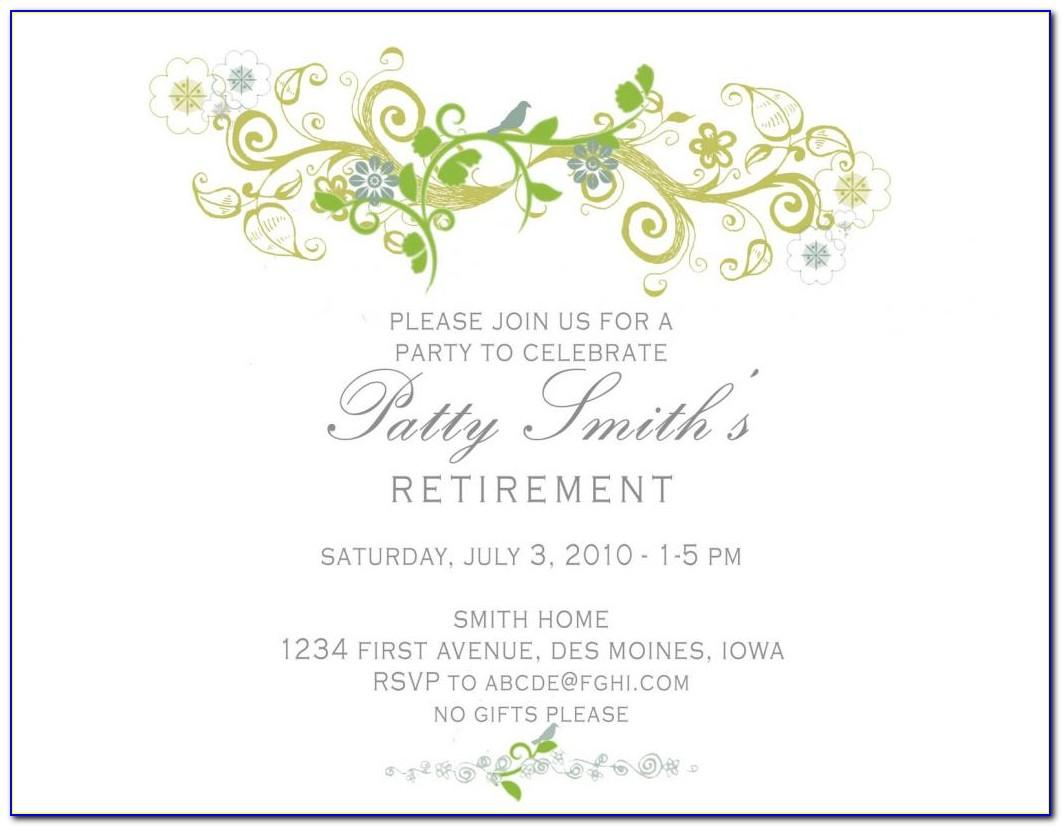 Retirement Party Invitations Templates Free