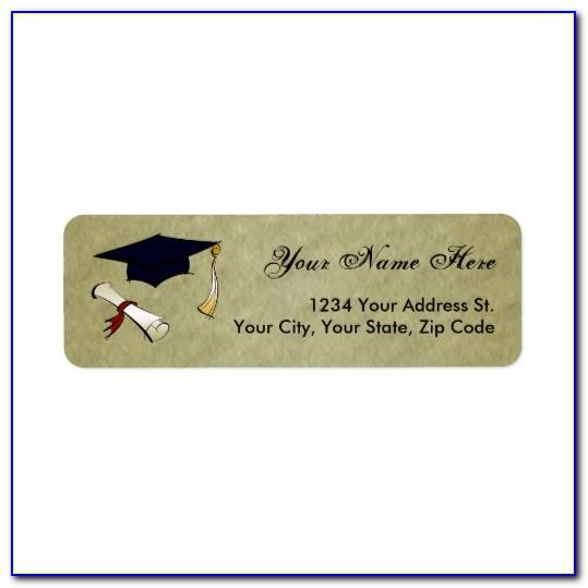 Return Address Labels Graduation Template