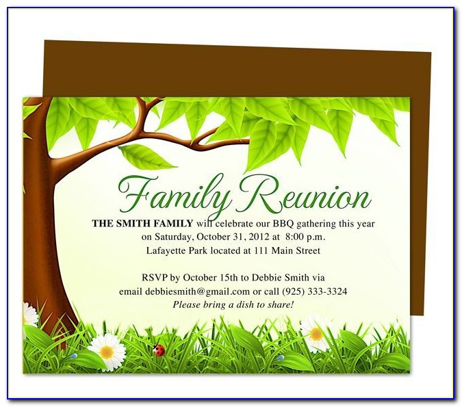 Reunion Flyer Template Free
