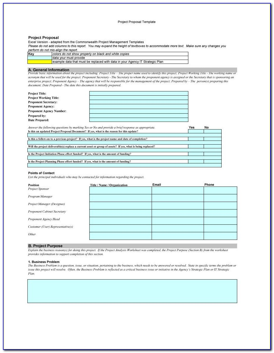 Rfp Cost Proposal Template