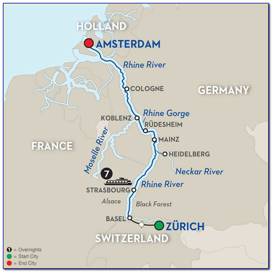 Rhine River Cruise Routes