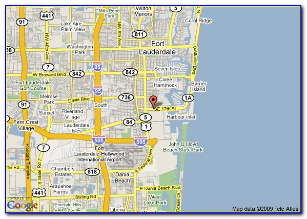 Riverside Hotel Fort Lauderdale Map