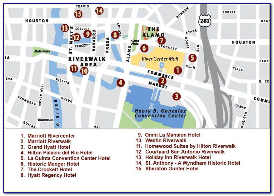 Riverwalk Map Of Hotels