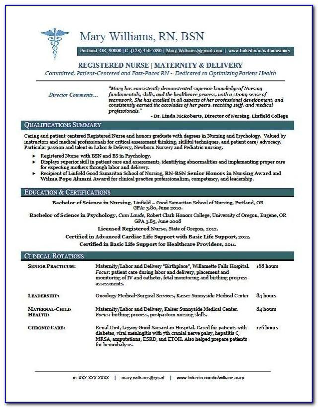 Rn Resume Template Downloads