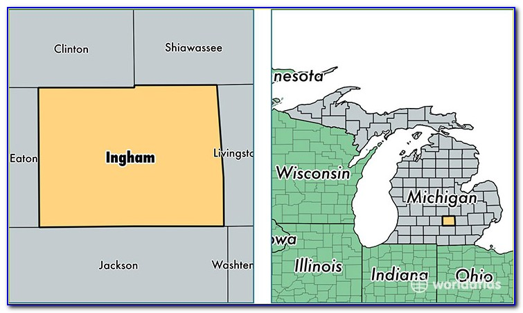Road Map Of Ingham County Michigan
