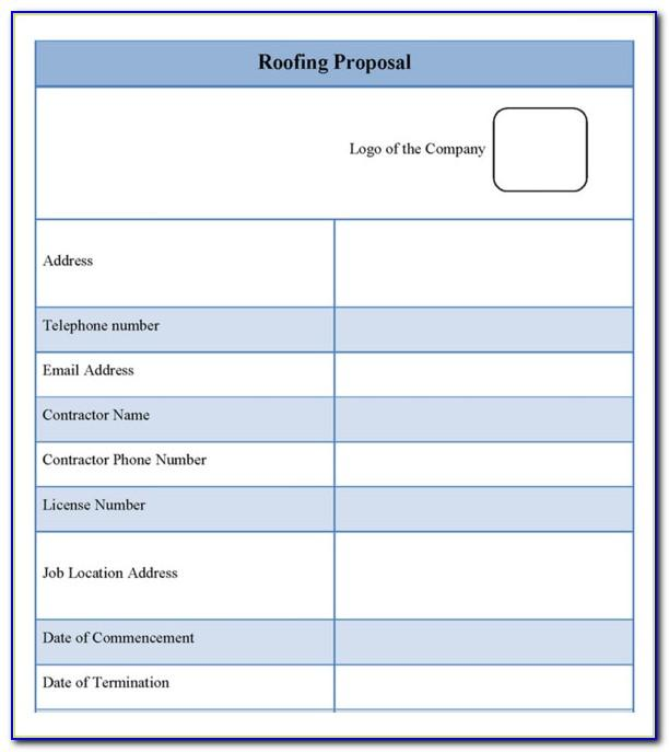 Roofing Bid Template Free