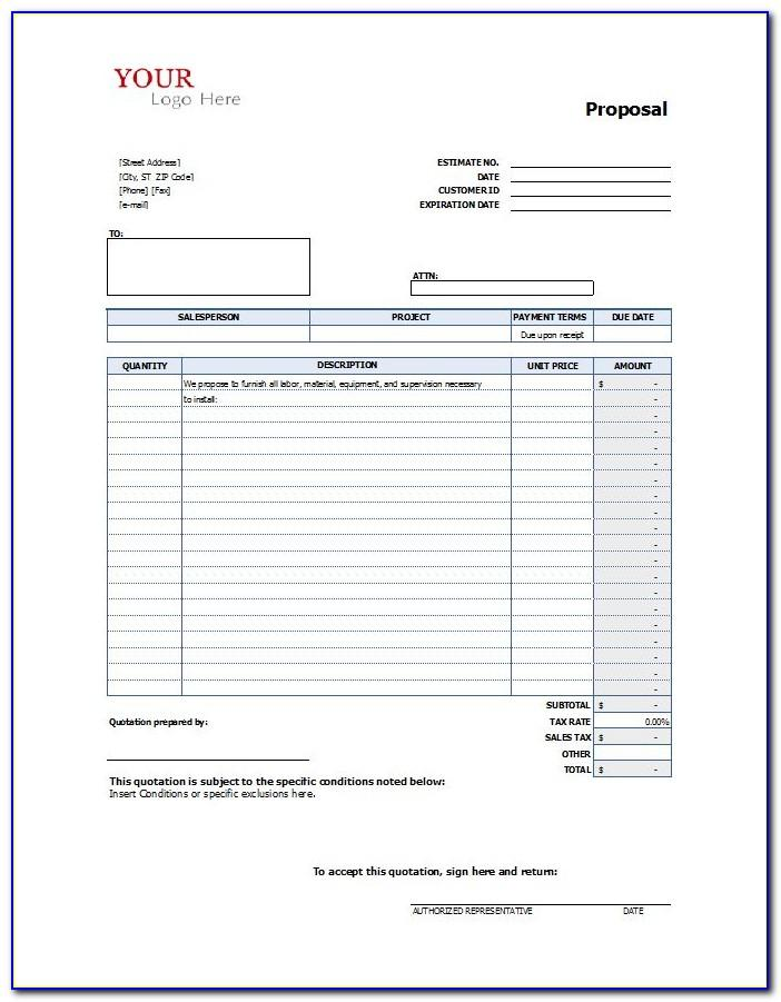 Roofing Contractor Proposal Template