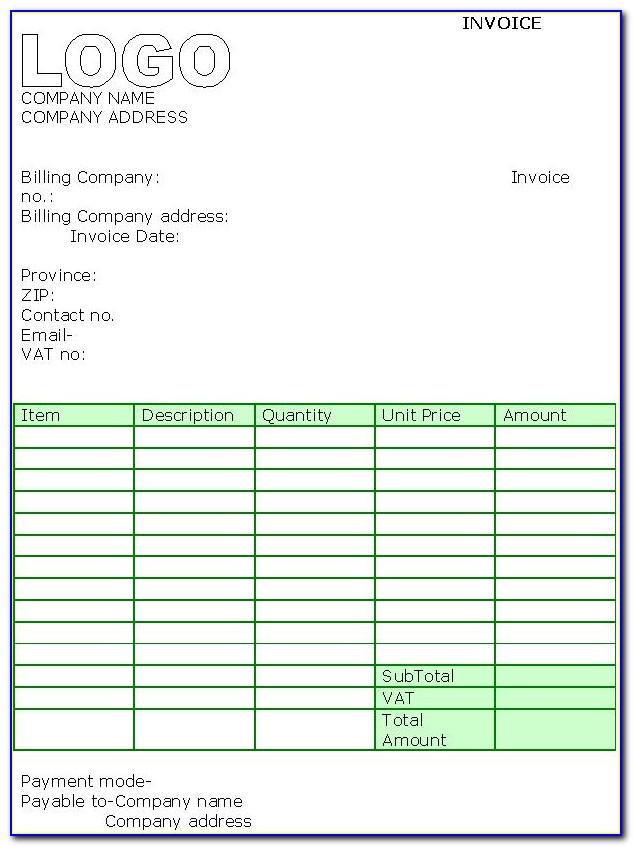 Roofing Invoice Template Uk