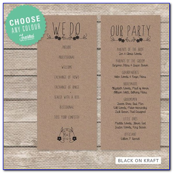 Rustic Wedding Templates Free