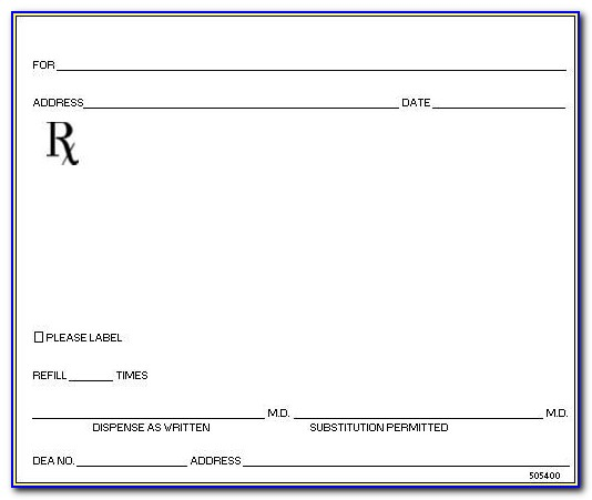 Rx Pad Template Word