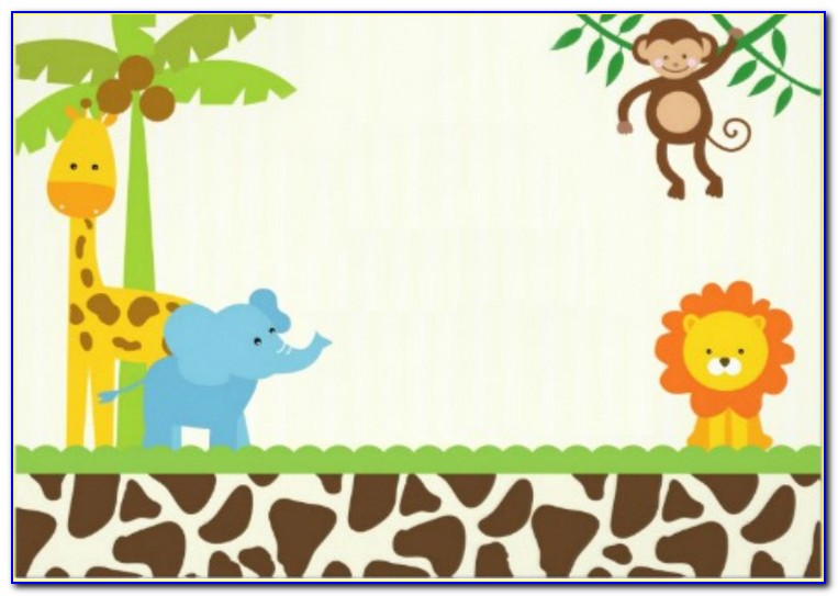 Safari Baby Shower Invitations Template Free