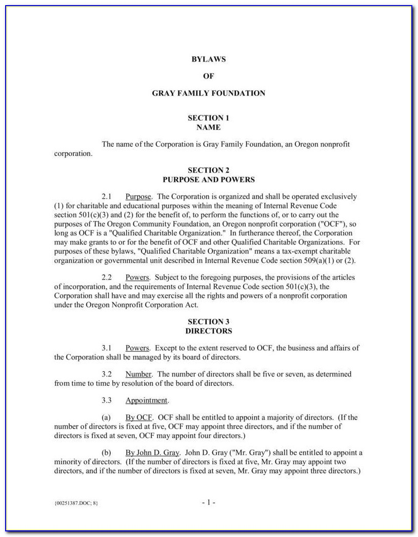 Safety Committee Bylaws Template
