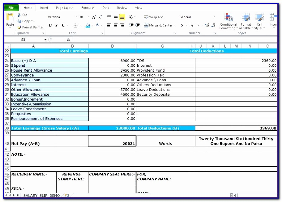 Pay Stub Excel Template Crqhh Luxury Salary Slip Format In Excel Free Download Excel Tmp
