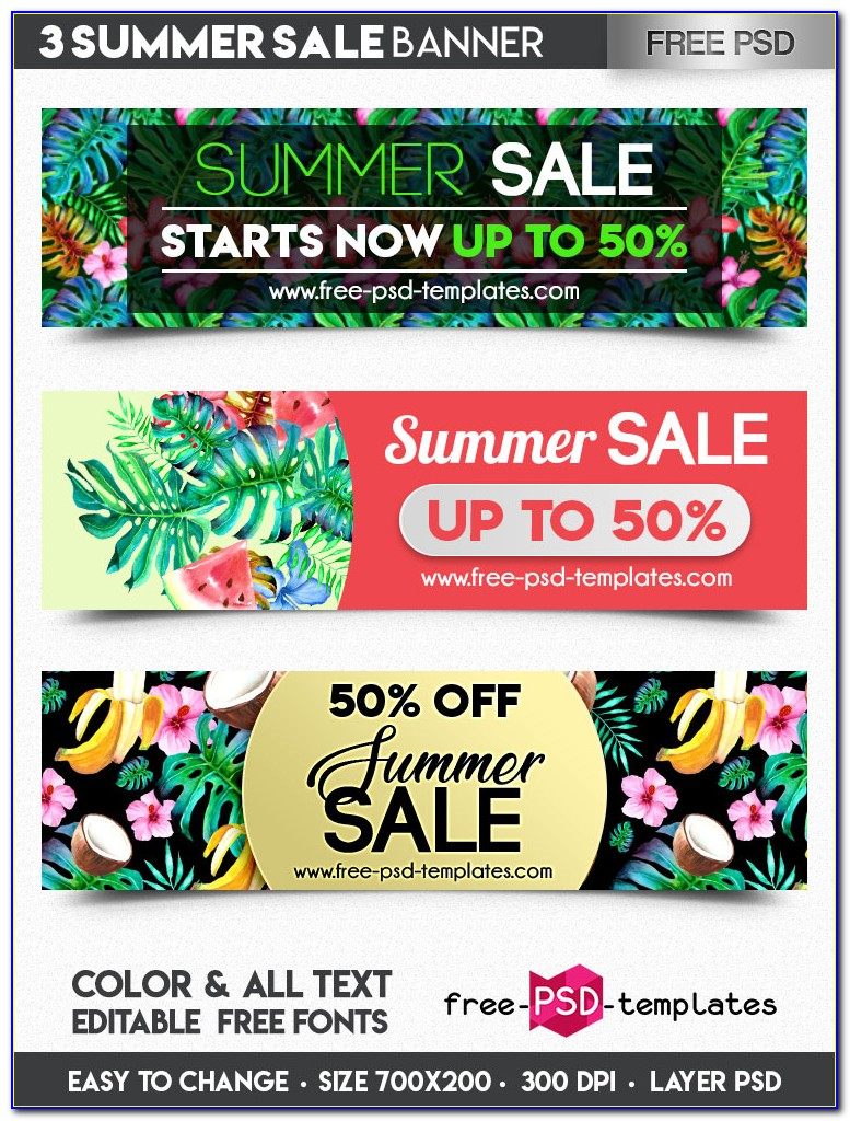 Sale Banner Templates For Photoshop