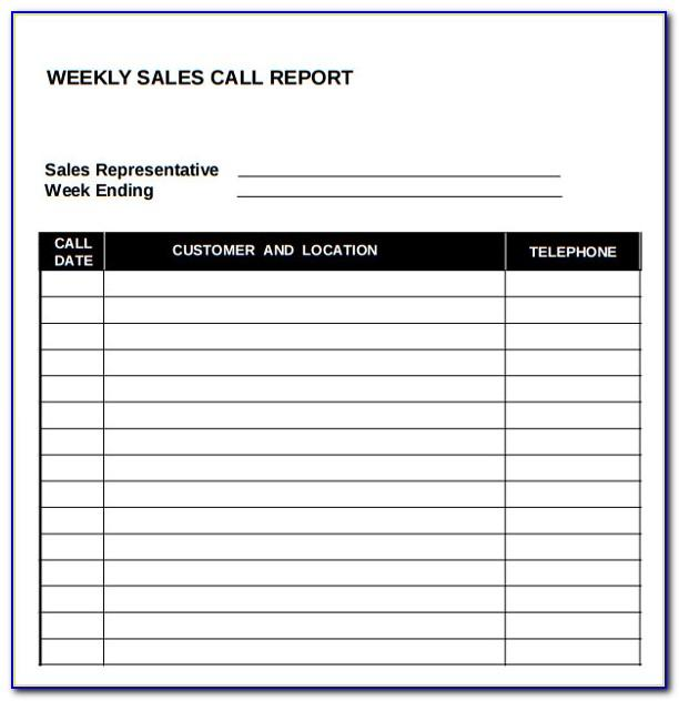 Sales Call Report Format