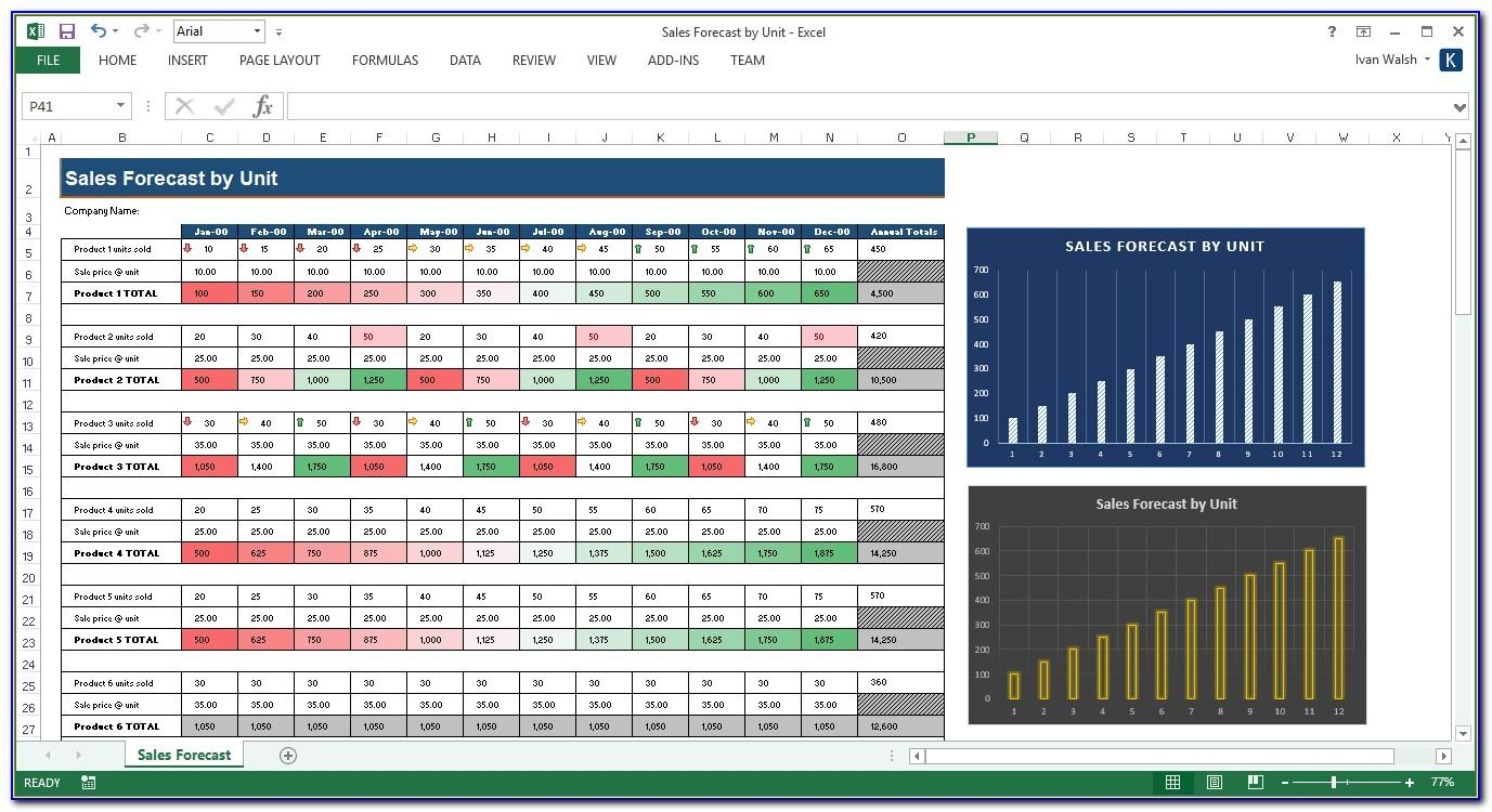 Sales Forecast Sample Excel