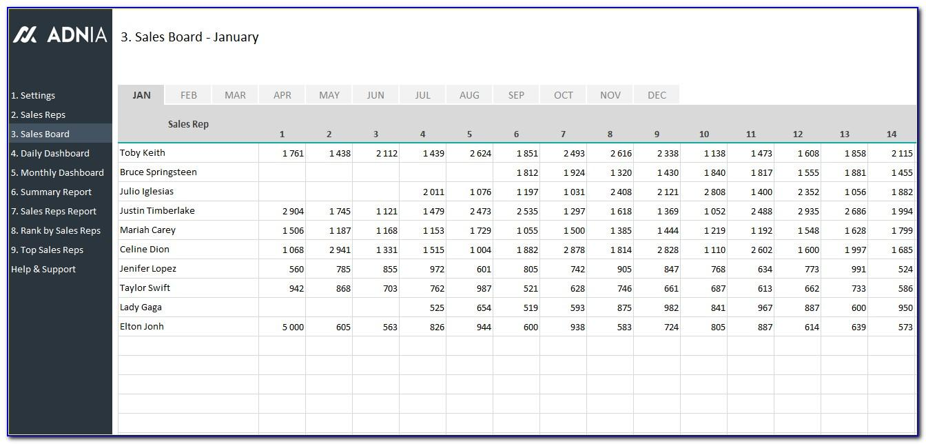 Sales Opportunity Tracking Excel Template