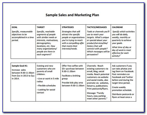Sales Plan Template Doc