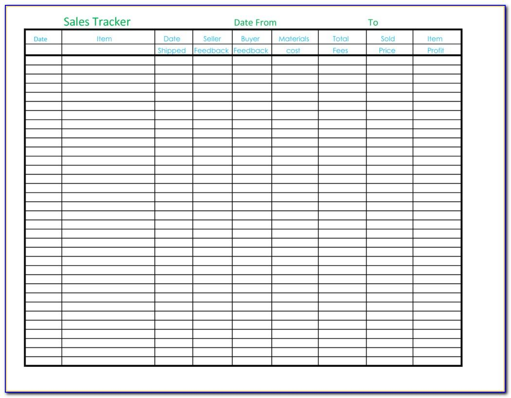 Sales Tracking Template Excel