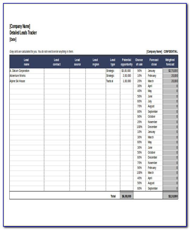 Sales Tracking Template Free