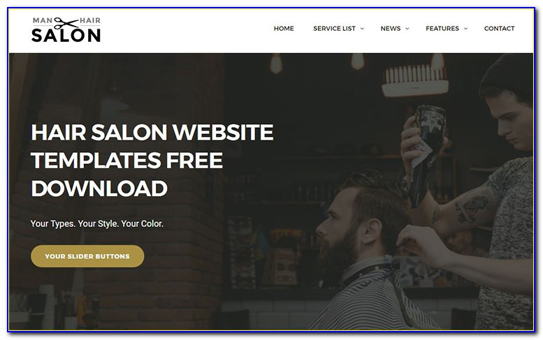 Salon Website Template Free Download
